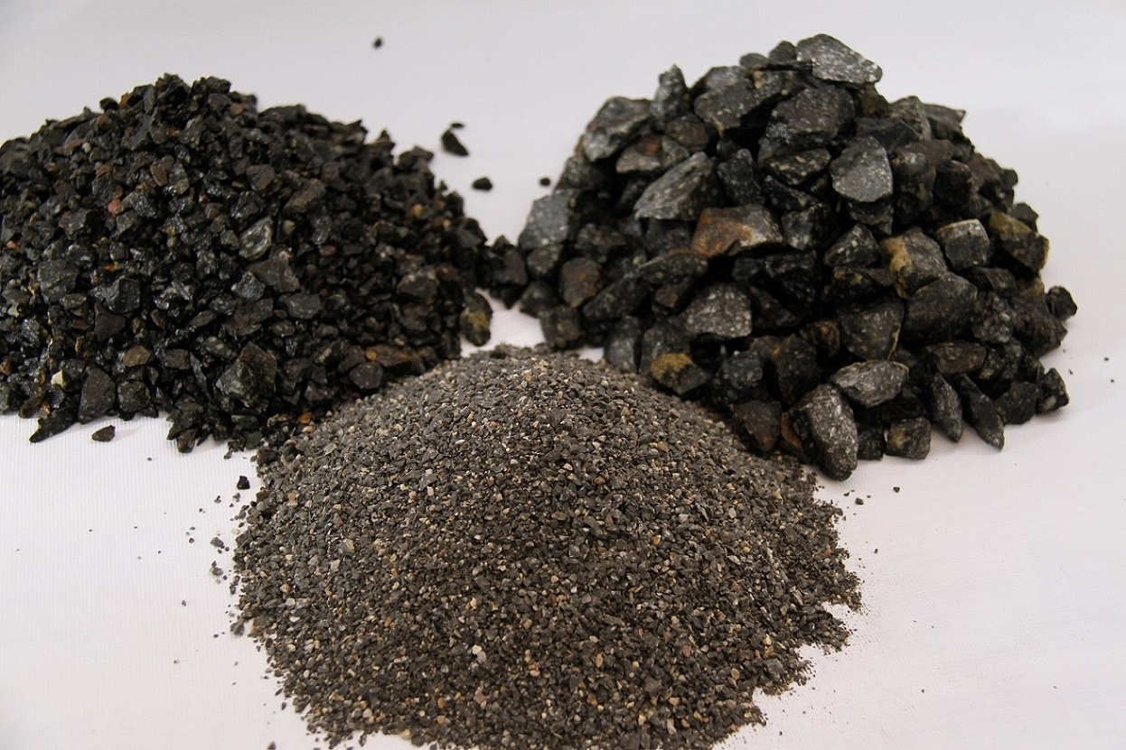 Basalt Gravel with requested sizes from 0 to any size